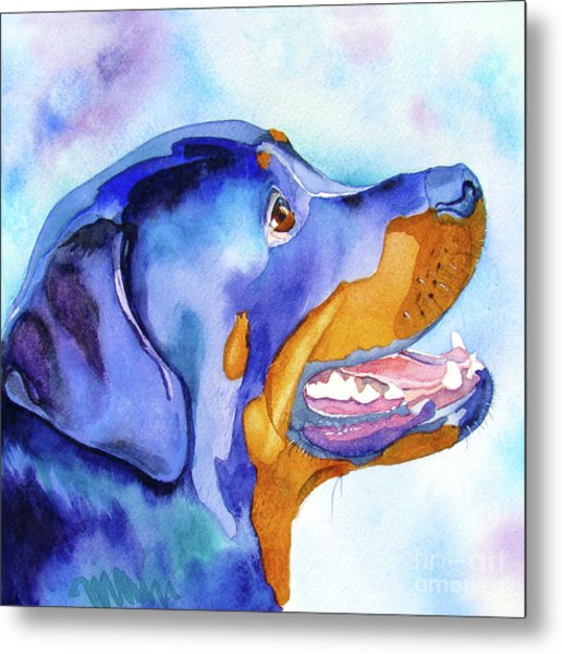 Rotty Rottweiler Blues Metal Print