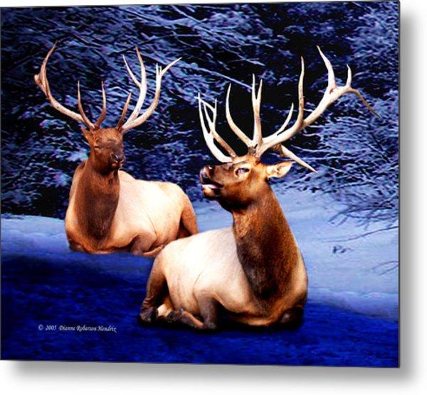 Royal Elk Metal Print by Dianne Roberson