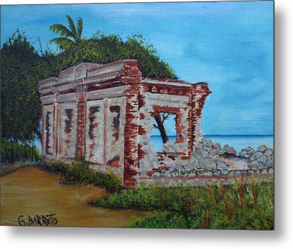 Ruinas Del Faro En Aguadilla Metal Print