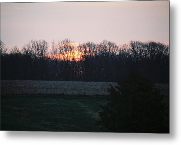 Rural Illinois Sunset Metal Print by C E McConnell