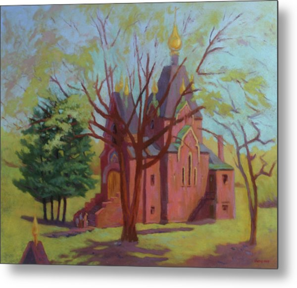 Russian Candles Church Metal Print by Bruce Zboray