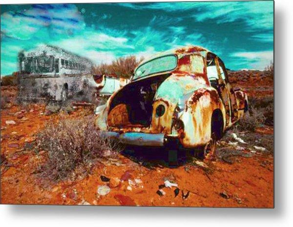 Rusted Metal Print by Leah Devora