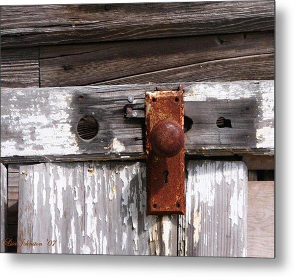 Rusty Entry Metal Print by Lisa Johnston