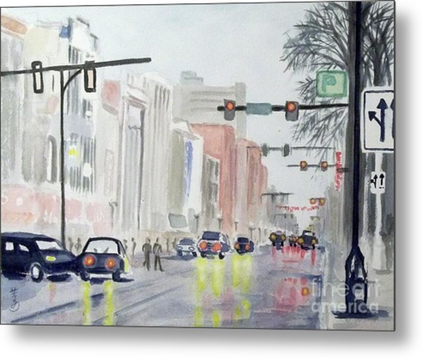 S. Main Street In Ann Arbor Michigan Metal Print