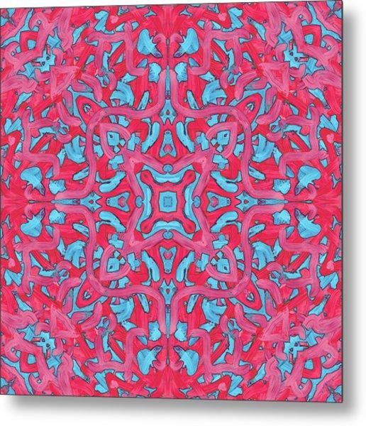 S U N - Pattern Metal Print