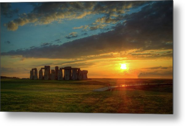 Sacred Sunset Metal Print