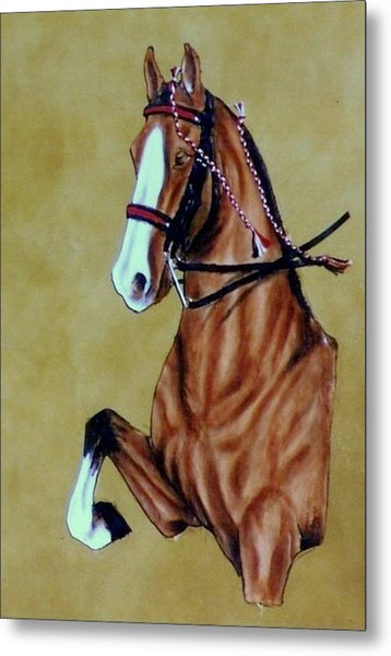 Saddlebred Metal Print by Lilly King