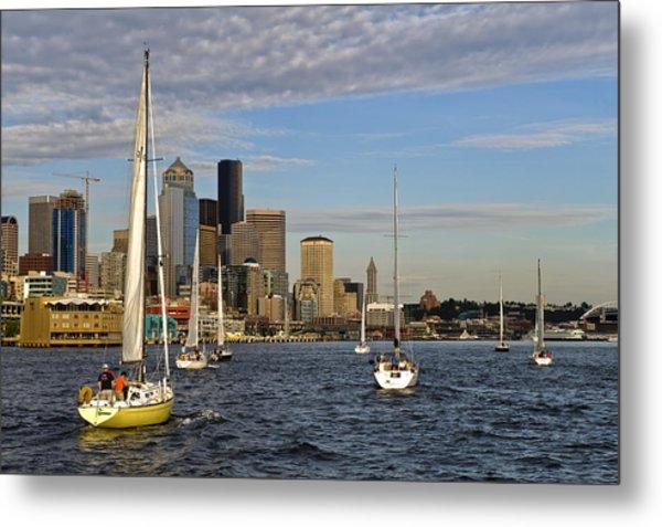 Sail Seattle Metal Print by Tom Dowd