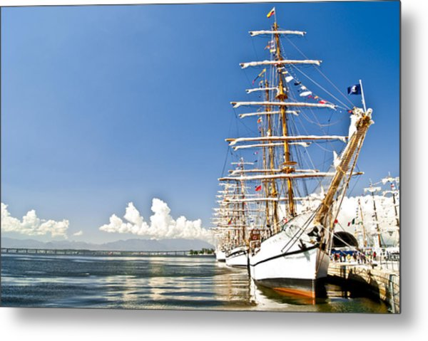 Sailboat In Rio Metal Print by Daniel Wander