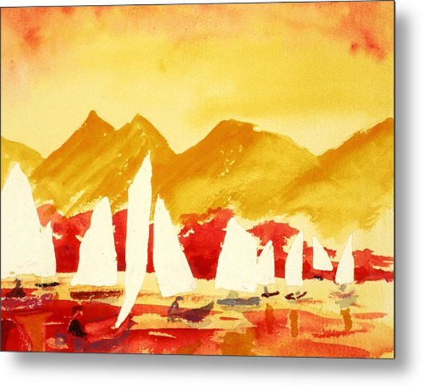 Sailing Class Metal Print by Buster Dight