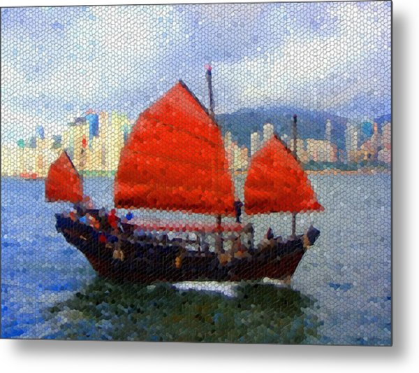 Sailing On The East Metal Print