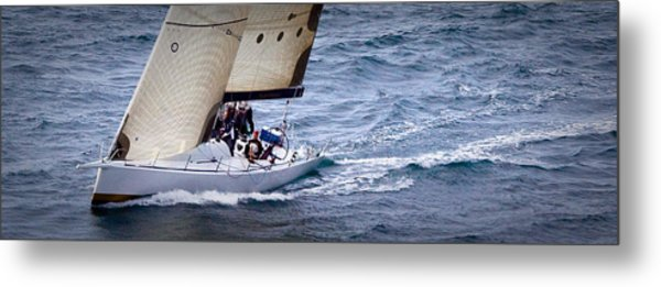 Sailing On The Straits Metal Print by Sandy Buckley