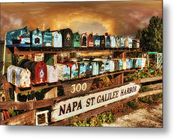 Sailors Mailbox Metal Print