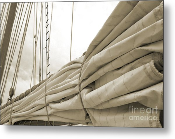 Sails Are Down 2 Metal Print