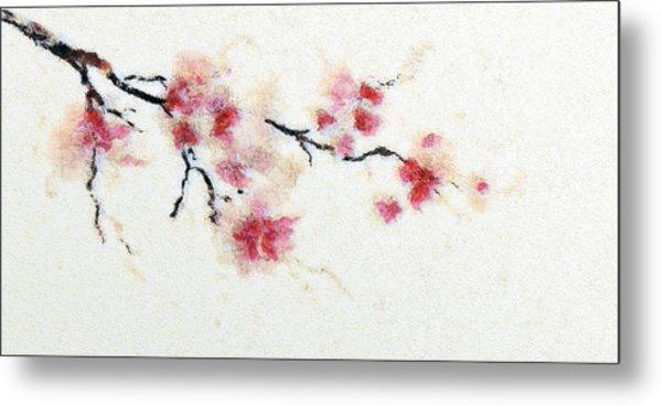 Sakura Branch Metal Print