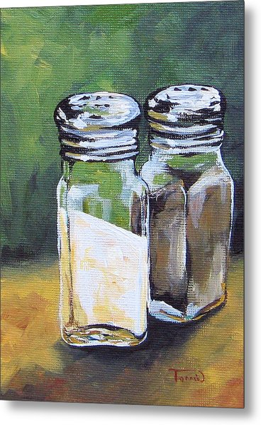 Salt And Pepper I Metal Print by Torrie Smiley