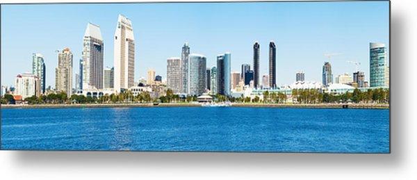 San Diego Cityscape Panorama Metal Print