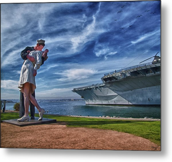San Diego Sailor Metal Print