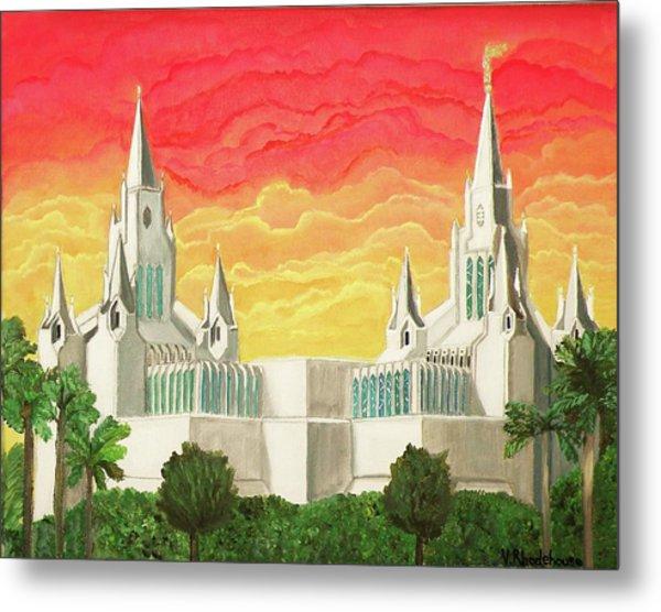 San Diego Temple Metal Print