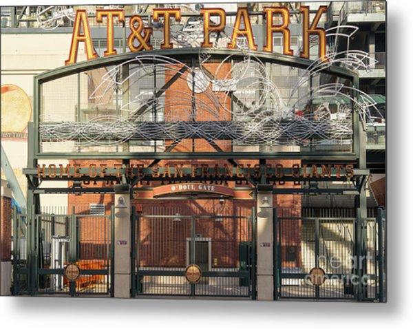 San Francisco Giants Att Park Juan Marachal O'doul Gate Entrance Dsc5778 Metal Print