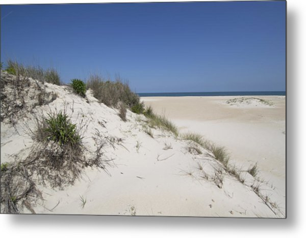 Sand Dunes On Assateague Island National Seashore - Maryland Metal Print by Brendan Reals