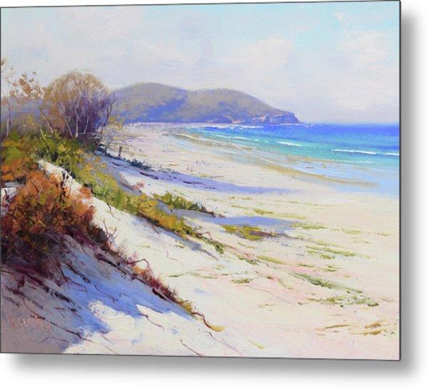 Sand Dunes Port Stephens Nsw Metal Print