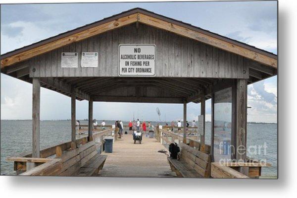 Sanibel Island Fishing Pier Metal Print