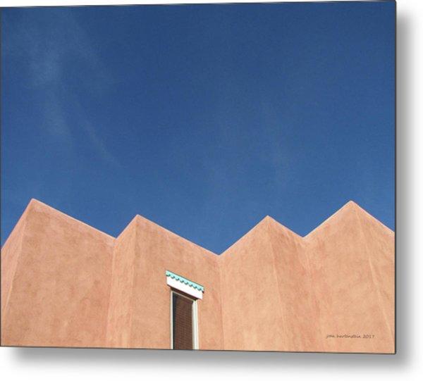 Santa Fe Angles, Blue Sky Metal Print