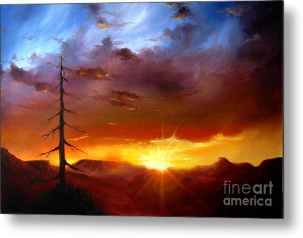 Santa Fe Sunset Metal Print
