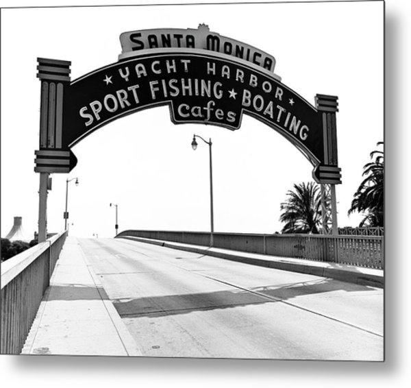Santa Monica Pier Arch Metal Print