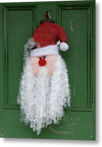 Santa On Henry Street Metal Print