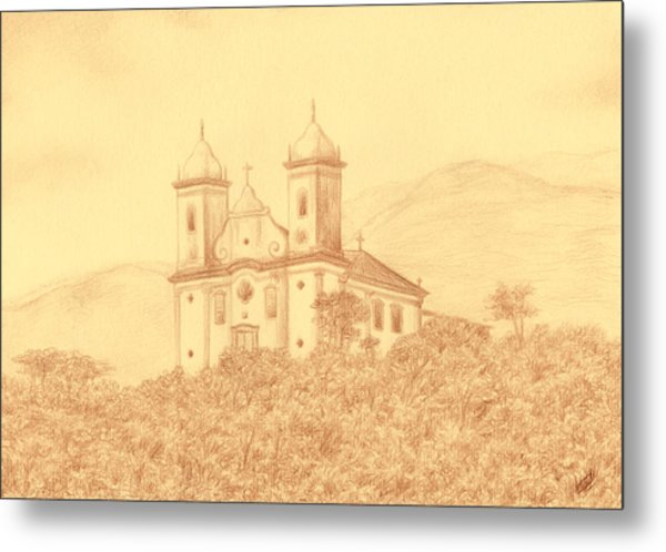 Sao Francisco De Paula Church Metal Print by Enaile D Siffert