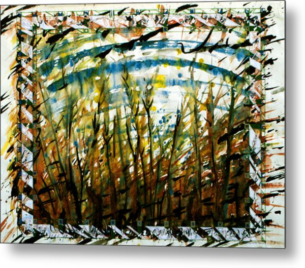 Saplings Metal Print by Tom Hefko