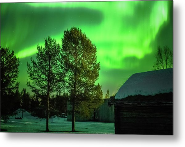 Sapmi Outdoor Museum Under The Northern Lights Karasjok Norway Metal Print
