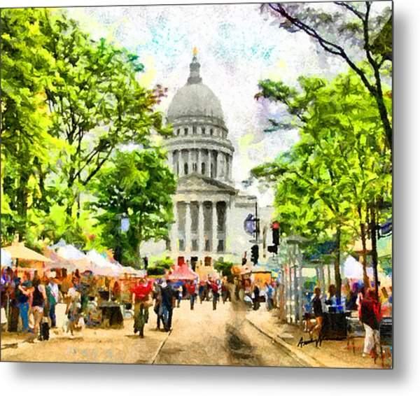 Saturday In Madison Metal Print