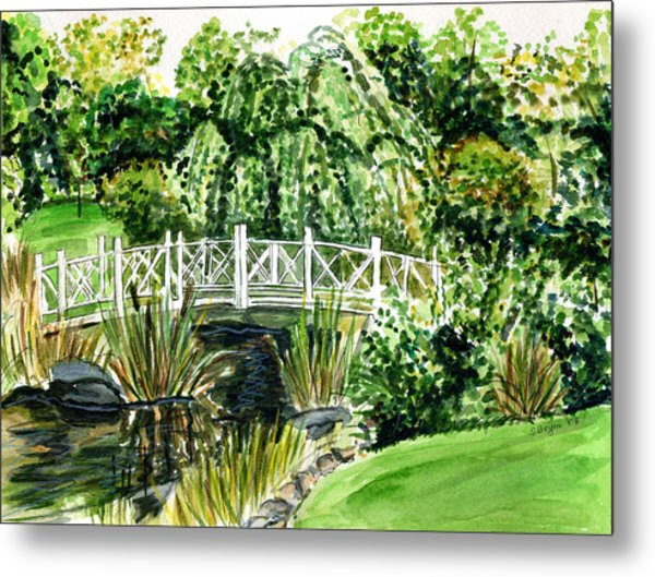 Sayen Bridge Metal Print