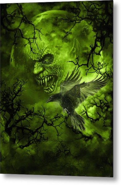 Scary Moon Metal Print
