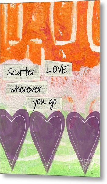 Scatter Love Metal Print