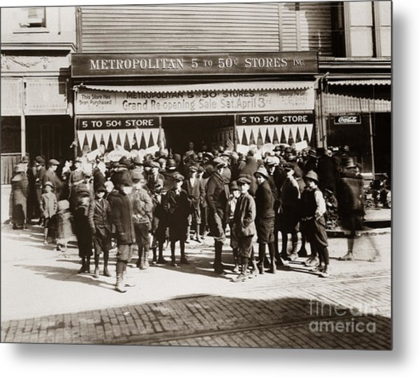 Scranton Pa Metropolitan 5 To 50 Cent Store Early 1900s Metal Print