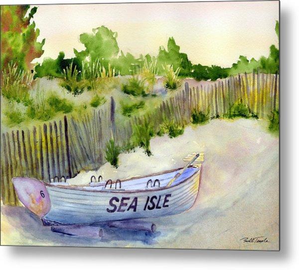Sea Isle Rescue Boat Metal Print by Paul Temple