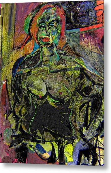 Seated Woman Metal Print by Noredin Morgan