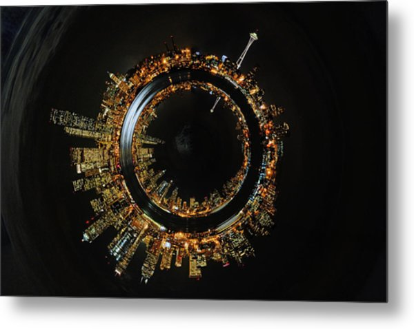 Seattle Inside And Out D054 Metal Print by Yoshiki Nakamura