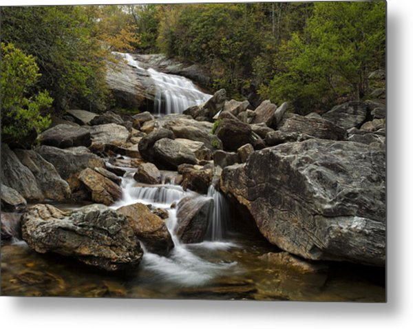 Second Falls - Blue Ridge Falls Metal Print by Andrew Soundarajan