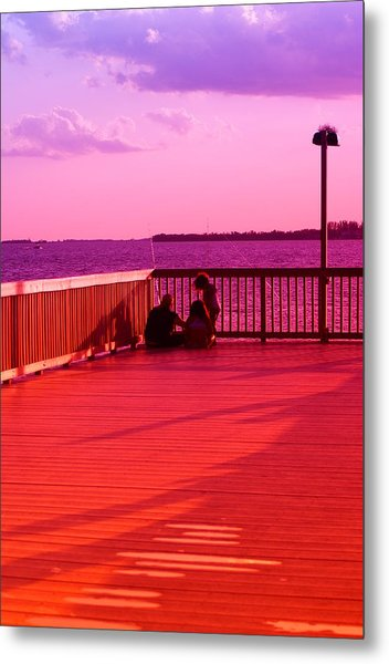 See What I Caught Metal Print by Florene Welebny