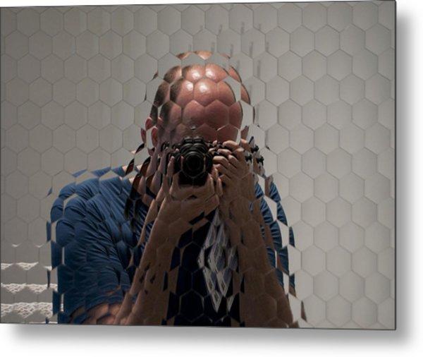 Self-portrait Through A Compound Eye  Metal Print by Gary Chapple