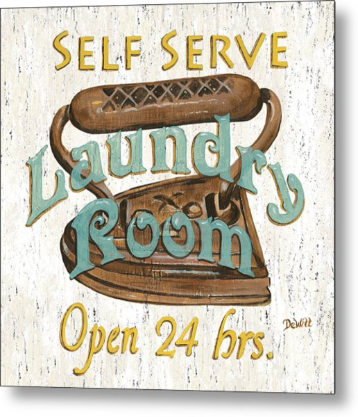 Self Serve Laundry Metal Print