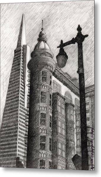 Sentinel Building Metal Print