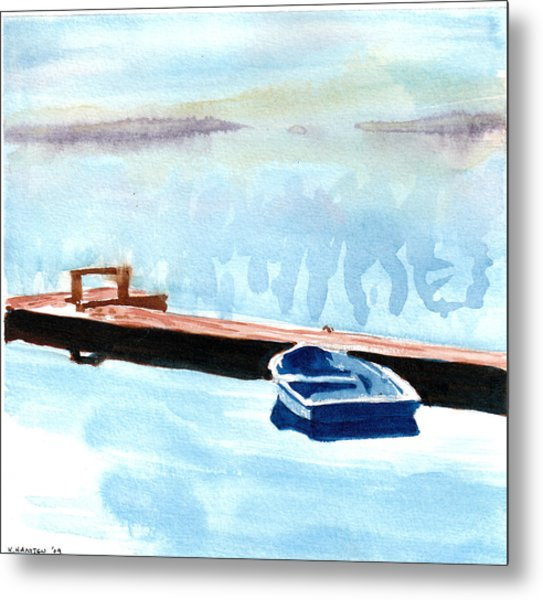 Serenity On The Lake Metal Print by Kerry Hartjen