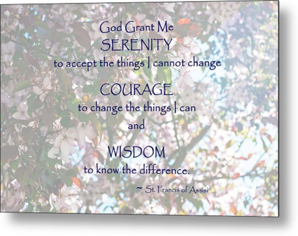 Serenity Prayer Metal Print by Edward Congdon