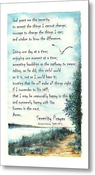 Serenity Prayer The Full Version Metal Print
